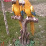 İkili Papağan Figürü