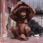 Şapkalı Maymun Maketi
