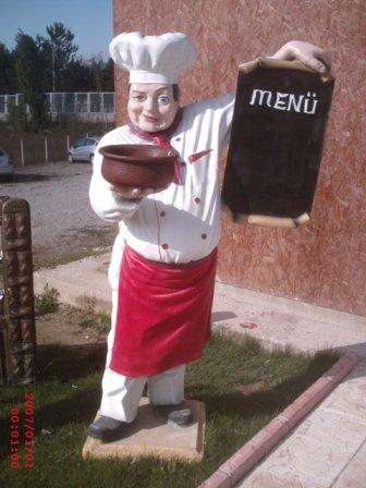Aşçı Menü Heykeli