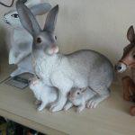 Ada Yavrulu Tavşan Maketi