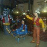 Aladdinin Sihirli Lambası Heykelleri Konsept