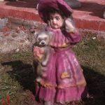 Ayıcıklı Kız Çocuk Heykeli