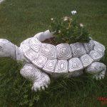 Büyük Kaplumbağa Çiçeklik Figürü