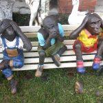 Dekoratif Üç Maymun Figürü