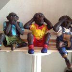 Dekoratif Üç Maymun Heykeli