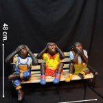 Dekoratif Üç Maymun Maketi