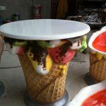 Dondurma Külahlı Masa