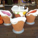 Dondurma Külahlı Masa Ve Sandalyeler