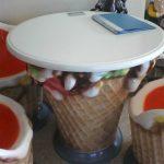 Fiber Dondurma Masa Maketi