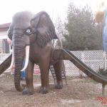 Fil Figürlü Oyun Grubu Heykeli