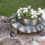 Kaplumbağa Çiçeklik Heykeli