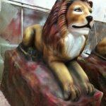 Kayada Yatan Büyük Aslan Figürü