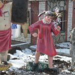 Koşan Kız Çocuk Maketi