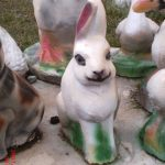 Mini Tavşan Heykeli