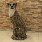 Oturan Asya Leoparı Figürü
