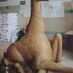 Oturan Zürafa Heykeli