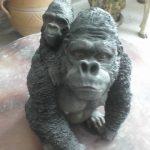 Yavrulu Malezya Orangutanı Maketi