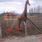 Zürafa Figürlü Oyun Grubu Heykeli