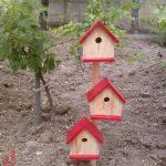 3'Lü Kuş Evi Ahşap